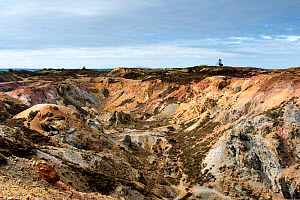 Disused copper mine and quarry workings, Parys Mountain, Amlwch, Isle of Anglesey, Wales, UK, September 2016. - Graham Eaton
