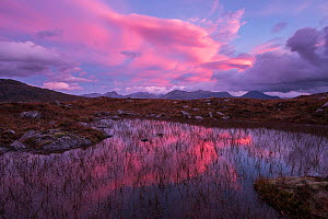 Ben Nevis and the Ring of Steall in the Mamores at sunrise, from the Devil's Staircase on the West Highland Way, Glencoe, Scotland, UK, October 2016.  -  SCOTLAND: The Big Picture