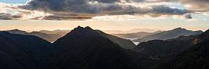 Mountain view to Loch Nevis and Glen Dessary from Sgurr Cos na Breachd-laoidh, Knoydart, Scotland, UK, September 2016.  -  SCOTLAND: The Big Picture