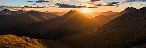 Mountain view to Loch Nevis and Glen Dessary, Knoydart from Sgurr Cos na Breachd-laoidh, Lochaber, Scotland, UK, September 2016.  -  SCOTLAND: The Big Picture