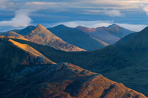 Aonach Mor and the Mamore mountains in early morning light, Lochaber, Scotland, UK, September 2016.  -  SCOTLAND: The Big Picture