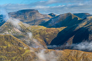 Ben Nevis and the Ring of Steall in the Mamores, Lochaber, Scotland, UK, September 2016.  -  SCOTLAND: The Big Picture