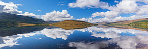 Reflections of clouds and landscape in Loch Arkaig, Glen Dessary, Lochaber, Scotland ,UK, September 2016.  -  SCOTLAND: The Big Picture