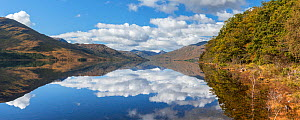 Reflections of clouds in Loch Arkaig, Glen Dessary, Scotland ,UK, September 2016.  -  SCOTLAND: The Big Picture
