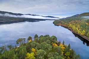 Autumn colours and mist over Loch Beinn a Mheadhoin, Glen Affric National Nature Reserve, Scotland, UK, October 2016. - SCOTLAND: The Big Picture