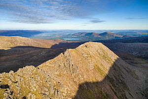 Fiacaill Coire an t-Sneachda in morning light with Loch Morlich in distance, Cairngorms National Park, Scotland, October 2016. - SCOTLAND: The Big Picture
