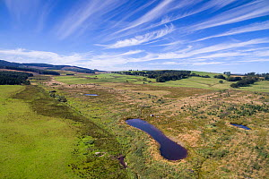 Storage ponds created in the Eddleston Water catchment area to store water during intense rainfall events. Part of Eddleston Water Project, a flood management project led by Tweed Forum, Peebles, Twee...  -  SCOTLAND: The Big Picture