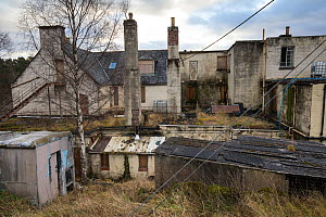 Run down hotel in Glen Affric, an area in need of economic revitalisation, Cannich, Wester Ross, Scotland, UK, June 2017  -  SCOTLAND: The Big Picture