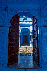 Door in the Blue City,  Jodhpur, Rajasthan, India. March 2015 - Mark MacEwen