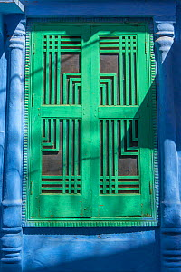 Green door in the Blue City, Jodhpur, Rajasthan, India. March 2015 - Mark MacEwen