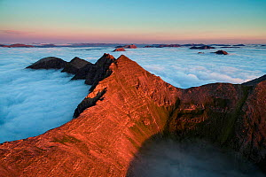 Aerial view of Teallach and low lying clouds, Scotland, UK.  -  SCOTLAND: The Big Picture