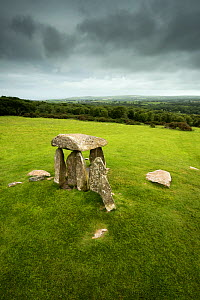 Pentre Ifan a Neolithic burial chamber, ported dolmen, chambered tomb, Aberteifi, Pembrokeshire, Wales, UK, June  -  Graham Eaton