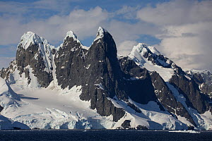 Mountains on the coast of the South Sheltand Islands,Lemaire Channel, Antarctic Peninsula, Antarctica. January. Photographed for The Freshwater Project  -  Michel  Roggo
