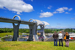 Falkirk Wheel, rotating boat lift connecting the Forth and Clyde Canal with the Union Canal, Stirlingshire, Scotland, UK, June 2017 - Philippe Clement