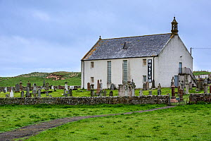 Strathnaver Museum of the Clearances, former parish church of St Columba at Clachan, Bettyhill, Caithness, Scottish Highlands, Scotland, UK, May 2017  -  Philippe Clement
