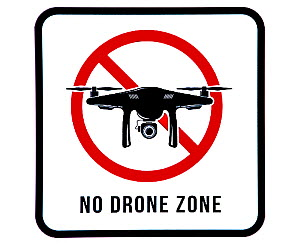 No drone zone sign prohibiting drones from flying over restricted area  -  Philippe Clement