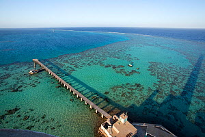 High angle view from Lighthouse, Sanganeb reef, Sudan, Red Sea - Franco  Banfi