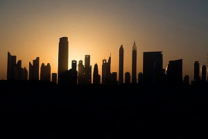 Dubai City skyline at sunset, United Arab Emirates, May 2017. - Michael Pitts