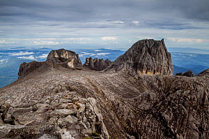 Oyayubi Iwu Peak, Alexandra Peak & Dewali Pinnacles, as seen from the summit of Mount Kinabalu  (4,095m), Borneo, May 2013. - Paul Williams
