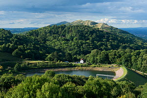 British Camp Reservoir and Tinker's Hill Wood, the Malvern Hills AONB and SSSI, Worcestershire, England, UK, August 2017. - Will Watson