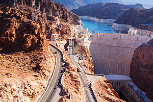 The Hoover Dam and Lake Mead hydro electric plant, which is at very low levels following a four year drought  -  Ashley Cooper