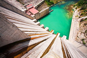 The Iznajar hydro electric power station near Antequera in Andalucia, Spain. June 2011.  -  Ashley Cooper