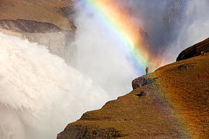 Rainbow over water flowing out of the Karahnjukar dam and Halslon reservoir, a massive new controversial hydro electricity project in North East Iceland. It was created by damming the Jokuls a Dal riv... - Ashley Cooper