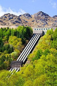 Sloy hydro power station on the shores of Loch Lomond, Scotland, UK. May 2012.  -  Ashley Cooper