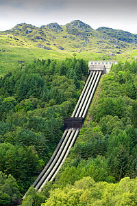 At 152 Mw the Sloy Hydro Power Station is the largest hydro power station in the UK, Loch Lomond, Scotland, UK. August  -  Ashley Cooper