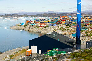 Oil fired power plant in Illulisat, Greenland, July 2008. - Ashley Cooper