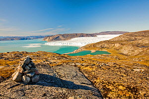 The Eqip sermia glacier that is receeding rapidly due to global warming on the west coast of Greenland. - Ashley Cooper