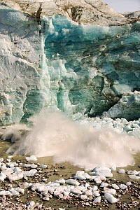 Small collapse of ice from the Russells Glacier, Kangerlussuaq, Greenland. July 2008. - Ashley Cooper