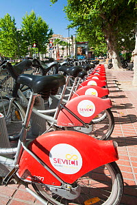 A public bike hire scheme in Seville, Spain. May 2011. - Ashley Cooper