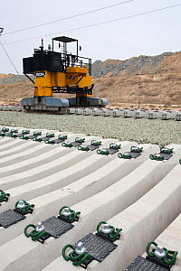 New electrified railway line built into Alicante, Murcia,, Spain. May 2011. - Ashley Cooper