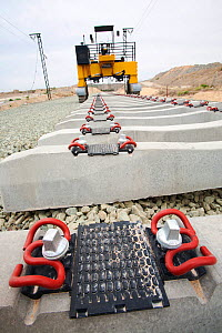 New electrified railway line built into Alicante, Murcia, Spain. May 2011. - Ashley Cooper