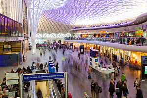 Newly refurbished Kings Cross railway Station, London, England, UK. April. - Ashley Cooper