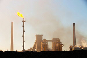 Air pollution and emissions from Redcar steel works, Teeside, England, UK. March 2011.  -  Ashley Cooper