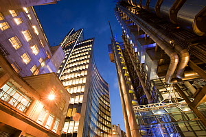 The Lloyds insurance building in the City of London, England, UK, December 2009. - Ashley Cooper