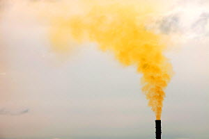 Polluted emissions from a gas fired power plant in Barrow in Furness, Cumbria, UK. January 2010. - Ashley Cooper