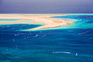 Windsurfers in the Red Sea resort of Dahab, Egypt, October 2008. - Ashley Cooper
