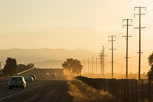 Poor air quality caused by dust from the ongoing drought near Bakersfield, California, USA. October 2014. - Ashley Cooper