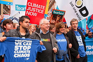 Former BBC weatherman Michael Fish, the actress Greta Scacchi and the actors Peter Capaldi and Junade Khan at the Stop Climate Chaos Coalition Demonstration. London, England, UK, December. Saturday 5t...  -  Ashley Cooper