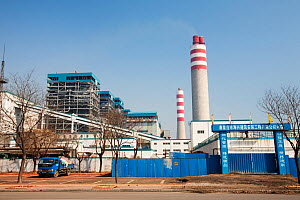 Coal fired power station just north of Beijing, China. March 2009. In 2008 China officially became the worlds largest emitter of greenhouse gases. - Ashley Cooper