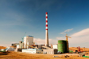 Coal fired power plant being constructed in Inner Mongolia, China, March 2009. In 2008 China officially became the worlds largest emitter of greenhouse gases. - Ashley Cooper