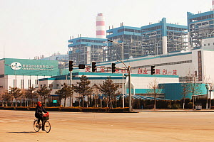 Coal fired power station, north of Beijing, China. March 2009. In 2008 China officially became the worlds largest emitter of greenhouse gases. - Ashley Cooper