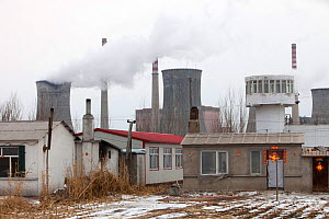 Coal fired power station, Harbin, Heilongjiang Province, China. March 2009. In 2008 China officially became the worlds largest emitter of greenhouse gases. - Ashley Cooper