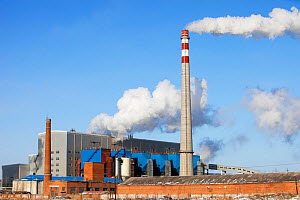 Coal fired power station, Suihua, Heilongjiang Province, China. March 2009. In 2008 China officially became the worlds largest emitter of greenhouse gases. - Ashley Cooper
