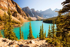 Moraine Lake, Banff National Park, Alberta, Canada, August 2012.  -  Ashley Cooper