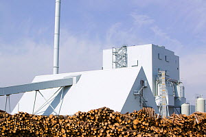 E.ON biofuel power station in Lockerbie Scotland with timber supplies/ The power station is fuelled by wood sourced from local woodlands and generates enough electricity to supply 70 000 houses. Scotl... - Ashley Cooper