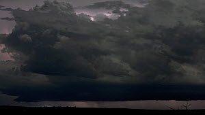 Timelapse of a lightning storm at night, Murchison Falls National Park, Uganda, April 2014.  -  Five Films